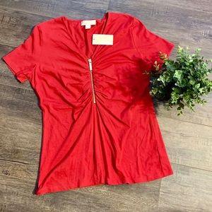 NWT Michael Kors zipper shirt